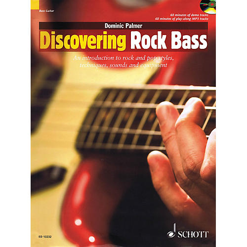 Schott Discovering Rock Bass Guitar Series Softcover with CD Written by Dominic Palmer-thumbnail