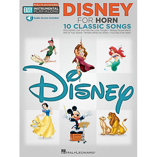 Hal Leonard Disney - Horn - Easy Instrumental Play-Along Book with Online Audio Tracks-thumbnail