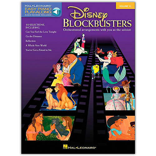 Hal Leonard Disney Blockbusters - Easy Piano Play-Along Volume 11 (Book/Online Audio)