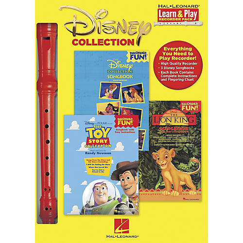 Hal Leonard Disney Collection Learn & Play Recorder 3-Book & Recorder Pack