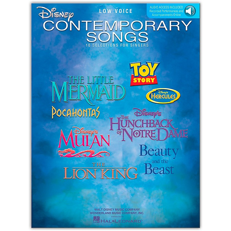 Hal LeonardDisney Contemporary Songs for Low Voice Book/CD