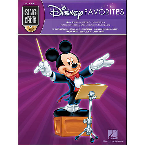Hal Leonard Disney Favorites - Sing with The Choir Series Vol. 7 Book/CD