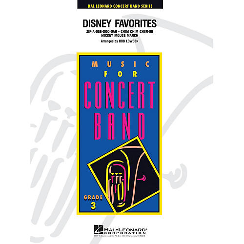 Hal Leonard Disney Favorites - Young Concert Band Level 3 by Bob Lowden-thumbnail