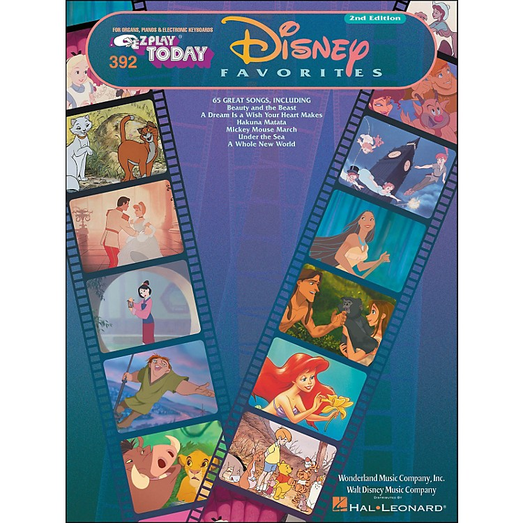 Hal Leonard Disney Favorites 2nd Edition E-Z Play 392