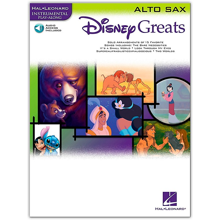 Hal Leonard Disney Greats for Alto Sax Book/CD Instrumental Play-Along