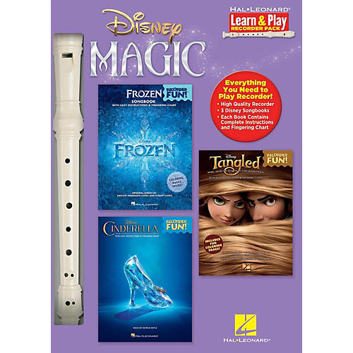 Hal Leonard Disney Magic - Learn & Play Recorder Pack includes Frozen/Tangled/Cinderella/Recorder-thumbnail