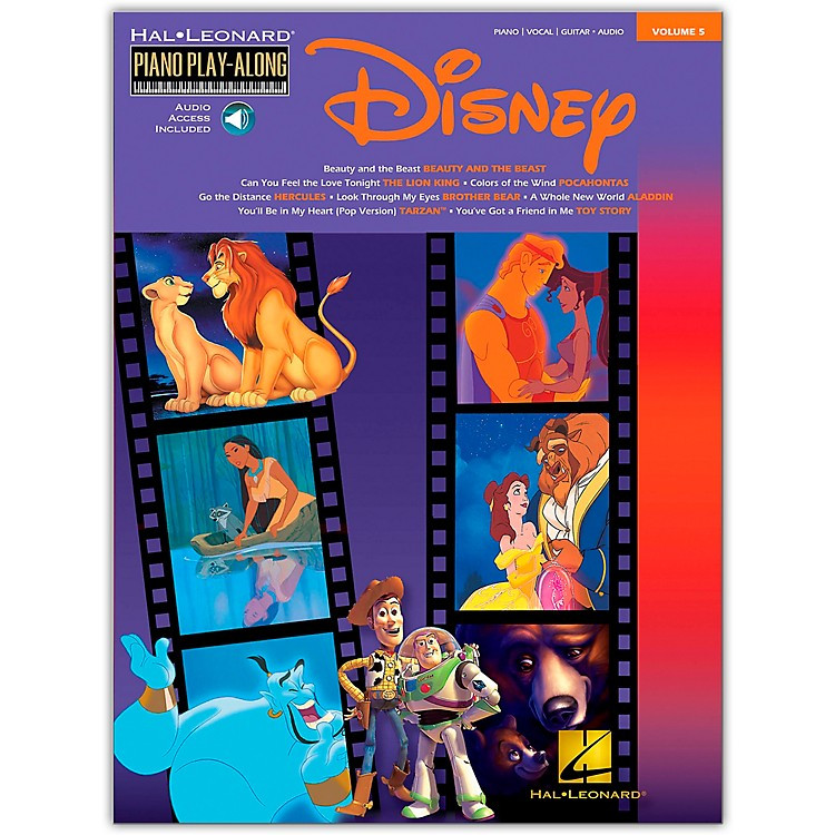 Hal Leonard Disney Piano Play-Along Volume 5 Book/CD arranged for piano, vocal, and guitar (P/V/G)