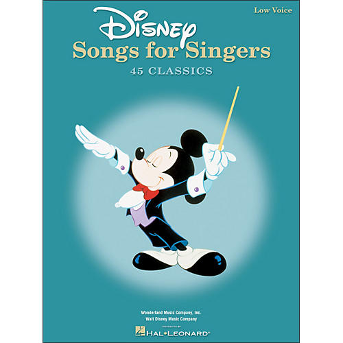 Hal Leonard Disney Songs for Singers for Low Voice