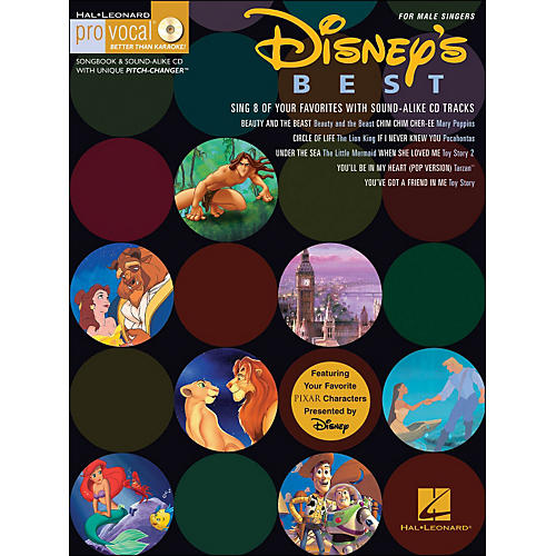 Hal Leonard Disney's Best for Male Singers Volume 12 Book/CD