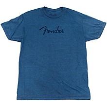 Fender Distressed Logo Premium T-Shirt Medium Indigo Blue
