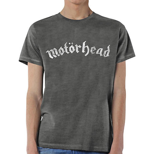 Motorhead Distressed Logo T-Shirt Large Gray