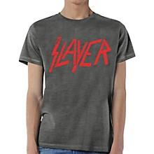 Slayer Distressed Logo T-Shirt Small Gray