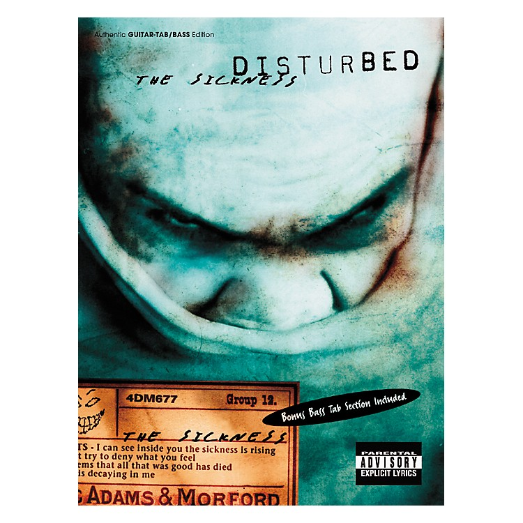 Hal Leonard Disturbed The Sickness Guitar & Bass Tab Book