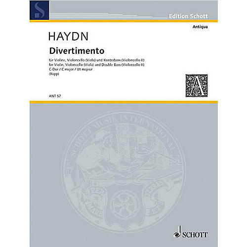Schott Divertimento C Major (Set of Parts) Schott Series by Johann Michael Haydn Arranged by Eugen Rapp-thumbnail