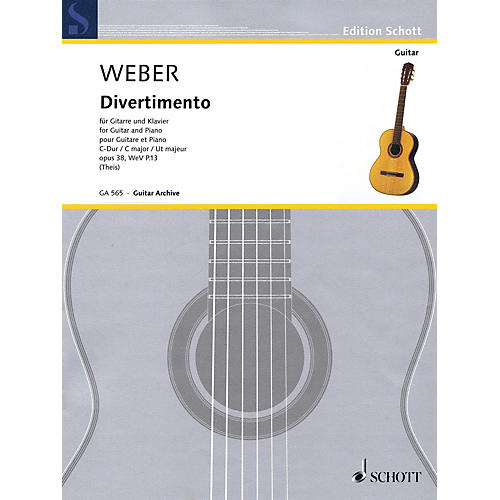 Schott Divertimento Op. 38, WeV P. 13 (Guitar and Piano) Guitar Series Softcover-thumbnail