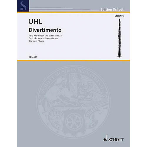 Schott Divertimento (Set of Parts) Schott Series Composed by Alfred Uhl-thumbnail