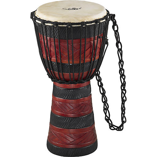 Schalloch Djembe Black/Red Carving Medium