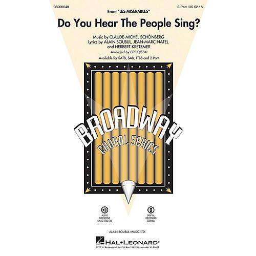 Hal Leonard Do You Hear the People Sing? (from Les Misérables) 2-Part arranged by Ed Lojeski-thumbnail