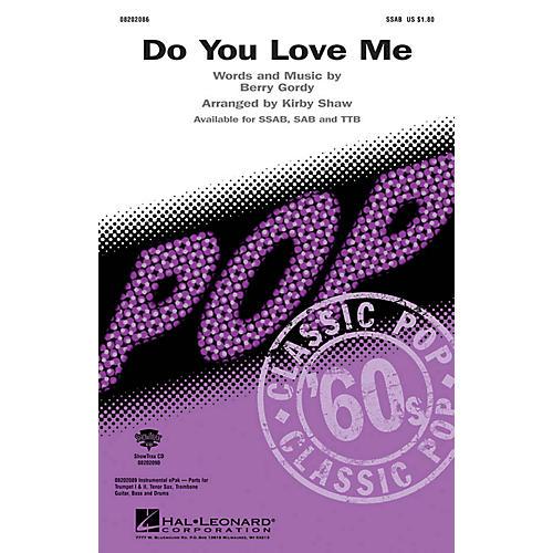 Hal Leonard Do You Love Me SSAB arranged by Kirby Shaw
