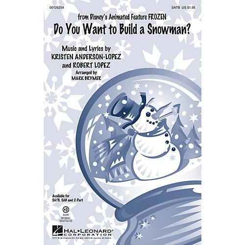 Hal Leonard Do You Want to Build a Snowman? (from Frozen) 2-Part by Kristen Bell Arranged by Mark Brymer-thumbnail