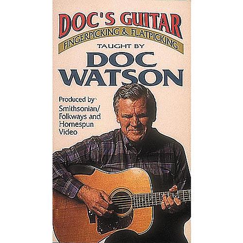 Hal Leonard Doc's Guitar - Fingerpicking and Flatpicking (VHS)-thumbnail