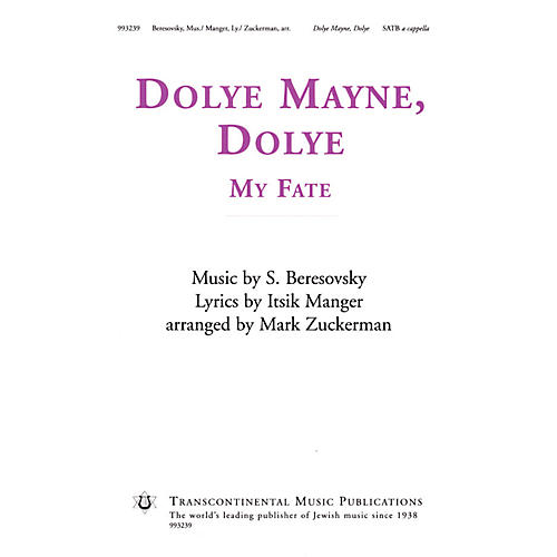 Transcontinental Music Dolye Mayne, Dolye (My Fate) SATB a cappella arranged by Mark Zuckerman-thumbnail