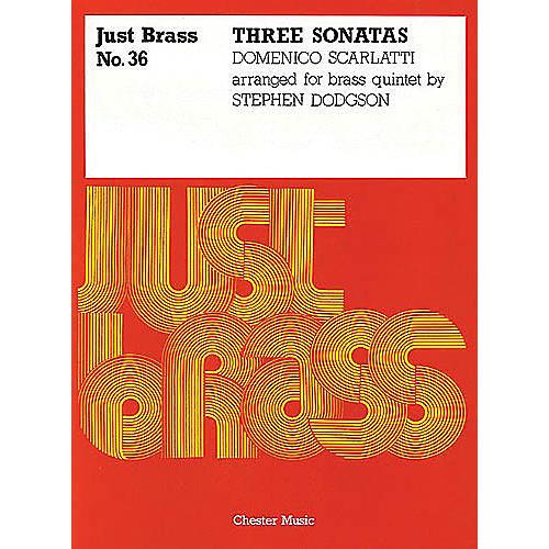 Music Sales Domenico Scarlatti: 3 Sonatas  - Brass Quintet (Just Brass No.36) Music Sales America by Scarlatti
