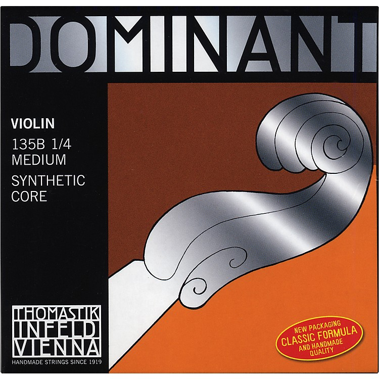 Thomastik Dominant 1/4 Size Violin Strings 1/4 Set, Steel E String, Ball End