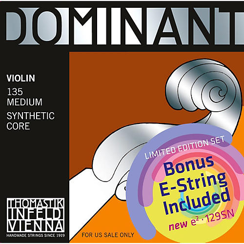 Thomastik Dominant 135 Bonus Set with Free Dominant Tin-Plated E String