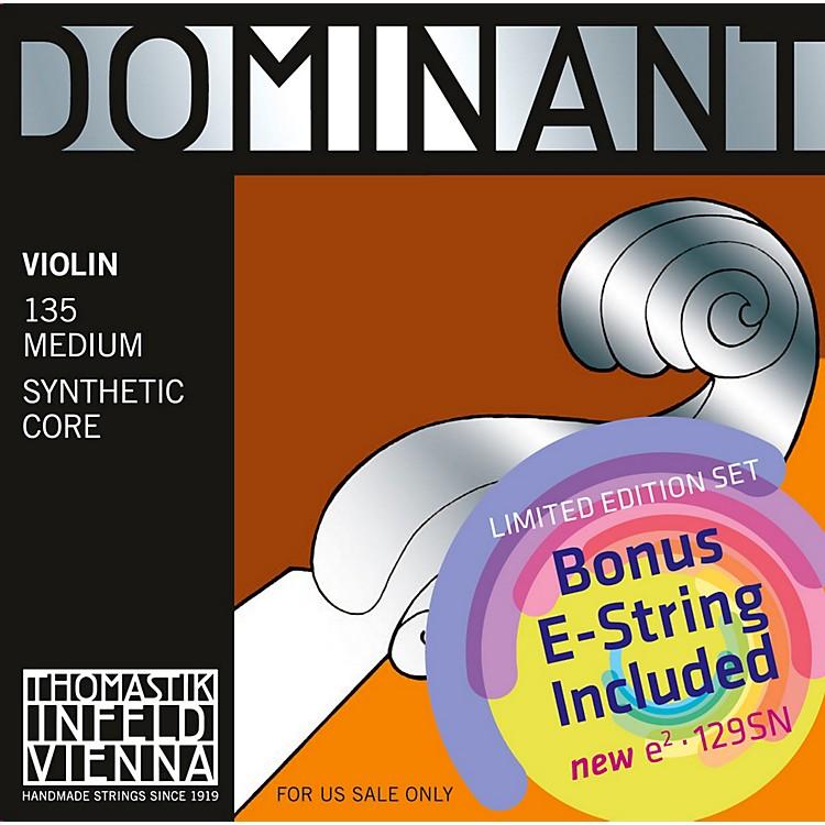 ThomastikDominant 135 Bonus Set with Free Dominant Tin-Plated E String
