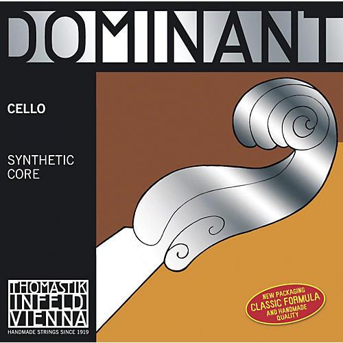 Thomastik Dominant 4/4 Size Heavy (Stark) Cello Strings 4/4 G String, Silver