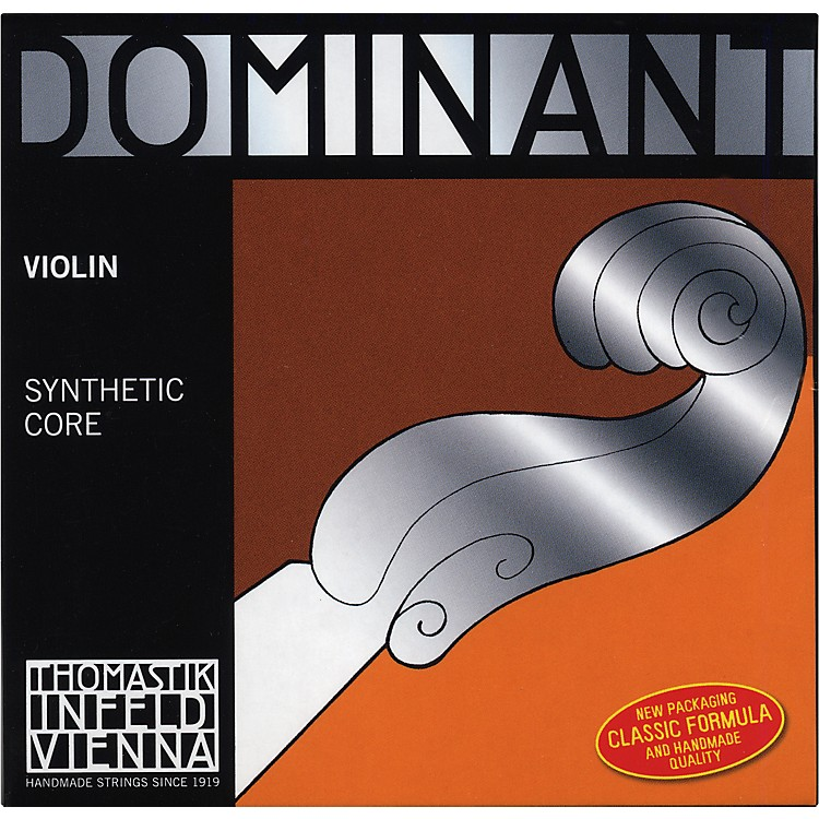 Thomastik Dominant 4/4 Size Stark (Heavy)  Violin Strings 4/4 Set, Wound E String, Loop End