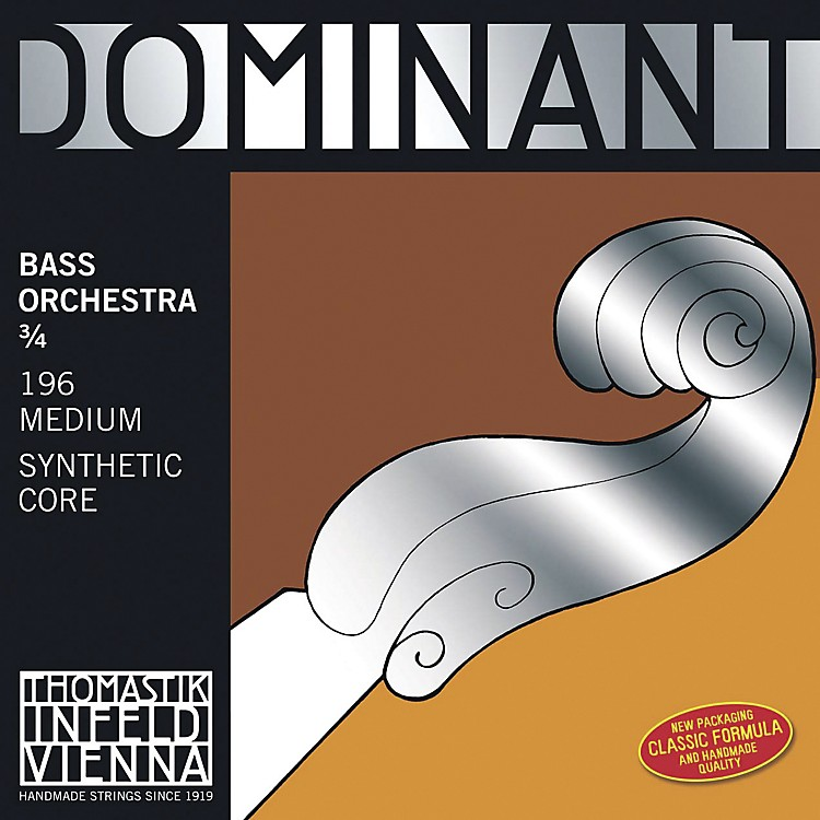 Thomastik Dominant Bass Strings D, Orchestral, Medium 3/4 Size