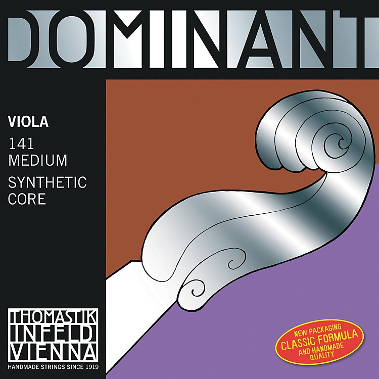 Thomastik Dominant Viola Strings 15+ Inch Set, Silver D String