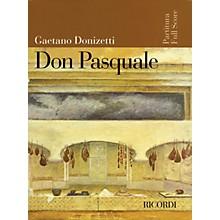 Ricordi Don Pasquale (Score) Study Score Series Composed by Gaetano Donizetti
