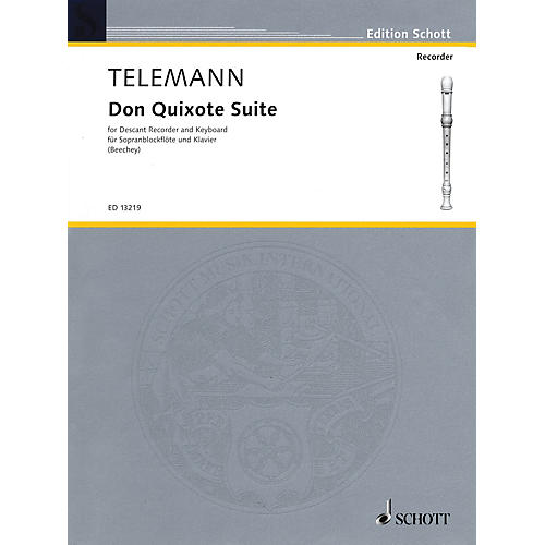 Schott Don Quixote Suite (for Descant Recorder and Piano) Woodwind Series Softcover-thumbnail