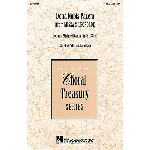 Hal Leonard Dona Nobis Pacem (from Missa S. Leopoldi) SSA arranged by Patrick M. Liebergen-thumbnail