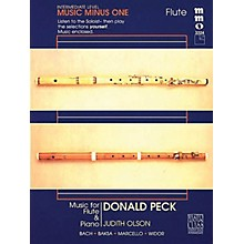 Music Minus One Donald Peck - Intermediate Flute Solos Volume 2 Music Minus One Series Softcover with CD by Donald Peck