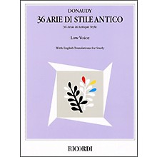 Hal Leonard Donaudy - 36 Arie Di Stile Antico for Low Voice