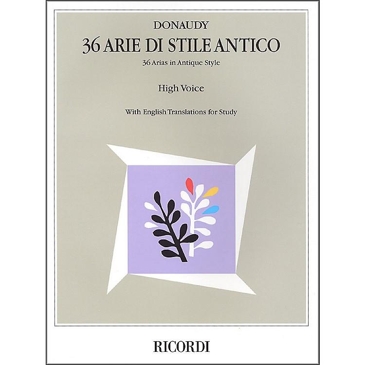 Hal LeonardDonaudy:  36 Arie Di Stile Antico for High Voice