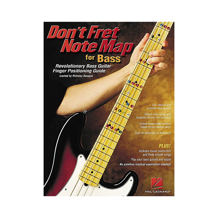 Hal Leonard Don't Fret Note Map for Bass Book