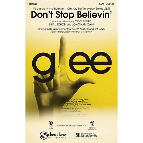 Cherry Lane Don't Stop Believin' (Featured In The Fox TV Series Glee) SATB