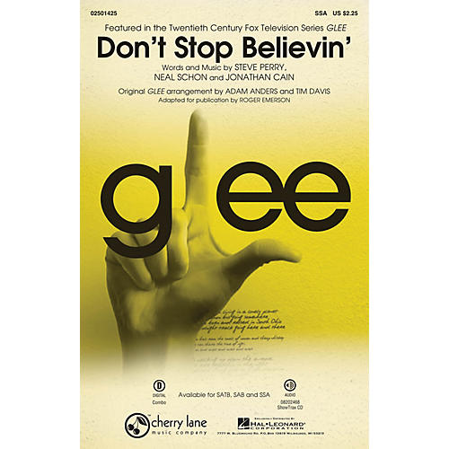 Cherry Lane Don't Stop Believin' (from Glee) SSA by Journey arranged by Roger Emerson-thumbnail