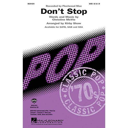 Hal Leonard Don't Stop SAB by Fleetwood Mac Arranged by Kirby Shaw-thumbnail