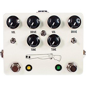 jhs pedals double barrel 2 in 1 dual overdrive guitar effects pedal musician 39 s friend. Black Bedroom Furniture Sets. Home Design Ideas