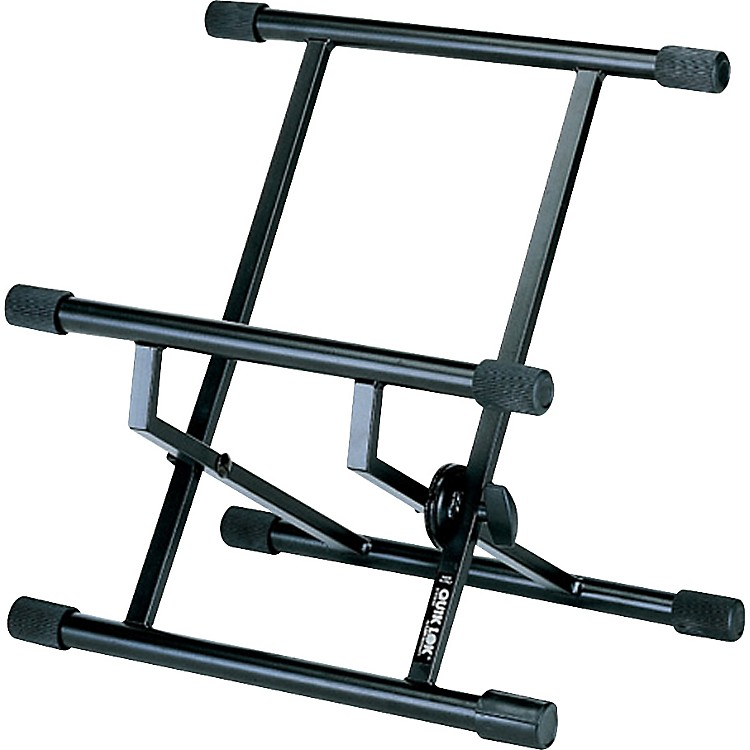 Quik-Lok Double-Brace Low-Profile Amp Stand For Small Amps