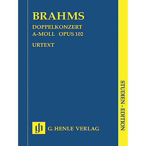 G. Henle Verlag Double Concerto A minor Op. 102 (Study Score) Henle Study Scores Series Softcover by Johannes Brahms-thumbnail
