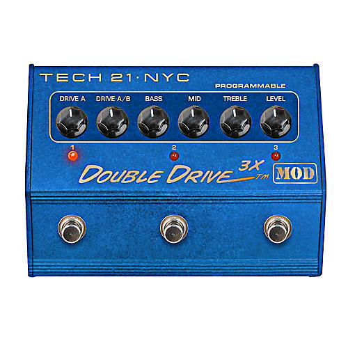 Tech 21 Double Drive 3X MOD Overdrive Guitar Effects Pedal with 3-Channel EQ