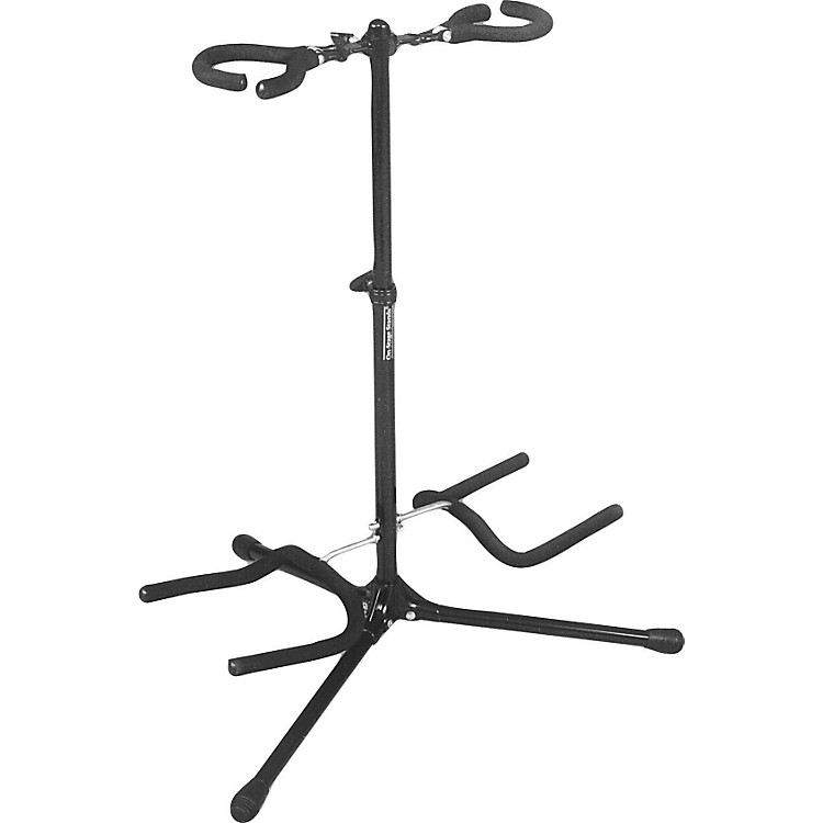 On-Stage Stands Double Flip It Guitar Stand Black