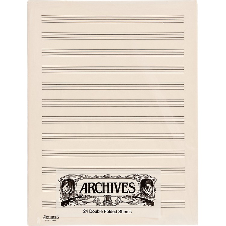 Archives Double Folded Manuscript Paper 10 Stave